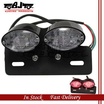 BJ-LPL-011 LED 3 in 1 Motorcycle ATV Dirt Bike License Plate Brake Running Turn Signal Tail Light