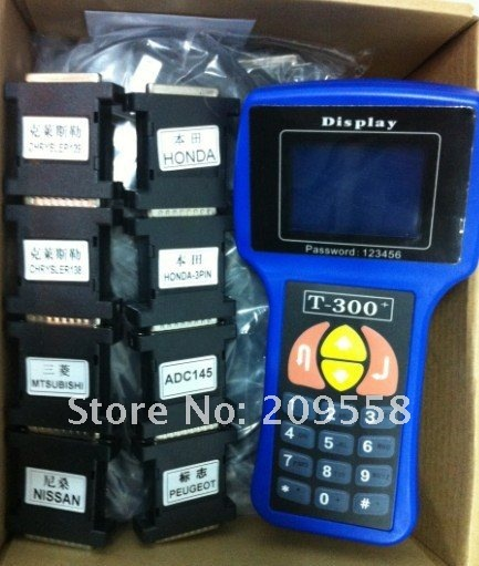 Cool price 2013 promotion sale t300 pro auto key programmer v12.05 one year free warranty(China (Mainland))