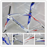 Hot ! Sky white blue red carbon bicycle frame+fork+AeroSeatpost+clamp+ headsets Free shipping