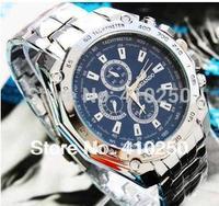 Freeshipping Fashion Male Men Full Steel Clock Business Quartz Men Dress Watch Mens Digital Wristwatch Clock