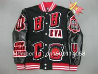 2013 BBC quarterback jacket Men hip hip jacket Fashion coat Men's Hip Hop coats BBC coats.baseball jacket Sport jackets
