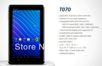 "NEW T070 Android 4.0 tablet pc,7"" Capacitive TP dual core 1GHz RAM 512MB+4GB ROM+3G/Wifi,phone call one se ISDB-T Free shipping"