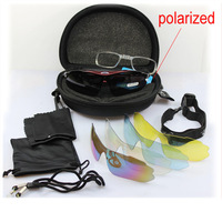0089 Polarized MTB Bicycle Cycling Sunglasses W/ 5 lenses Tactical Combat Airsoft Paintball Goggles Outdoor Sports Eyewear