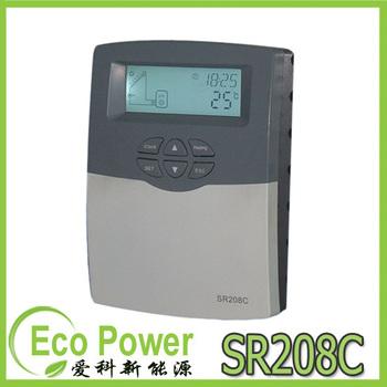 2013 Updated Split Solar Water Heater Controller SR208C (110V /220V ) with 1* pt1000 and 2* ntc10k sensors