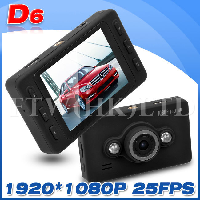 "D6 DVR Video Camera 140 degree Wide Angle Lens Support Night Vision 2.7"" LTPS LCD Display(China (Mainland))"