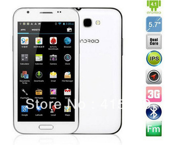 "In stock Star N9589 Smartphone(Grey)+MTK6589 Quad Core phone+Android 4.1.2-1.2GHZ+5.7""HD screen+1G RAM+Dual simcard+GPS wifi 3G"