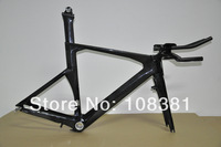 Glossy  finish full carbon time trial  bike frame/cardre+fork+seat post/Di2 compatibile(include frame,fork,seatpost,TT bar)