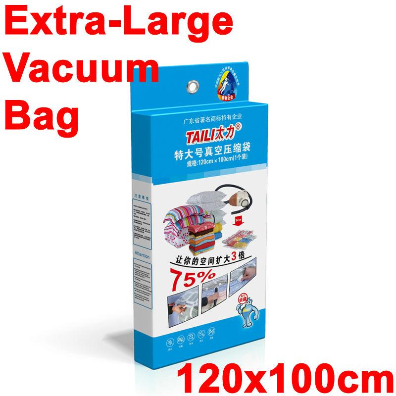 Extra large Vacuum Bag for Clothes High Quality Vacuum Storage Bag/Vacuum Space Saving Compressed Bag home organizer 120*100(China (Mainland))