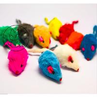 FURRY RAINBOW MICE - Real Rabbit Fur Small Cat Kitten Rattles Toy Pet supplies, Cat supplies, Cat toys