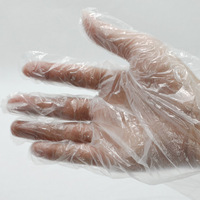 Free shipping 100pcs/bag disposable plastic gloves used in kitchen