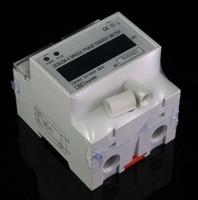 single phase din-rail 20~100A 230VAC 50 Hz LCD kilowatt hour kwh energy meter