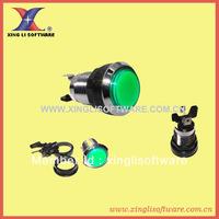 20 pcs of Silver Plated Illuminated Push Button/arcade machine parts/accessories/Arcade machine