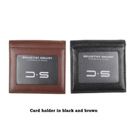 Free Shipping wholesale 100% genuine Cow leather wallet redit Card Holder slot + moeny pocket+ ID card holder matched 0WL13008