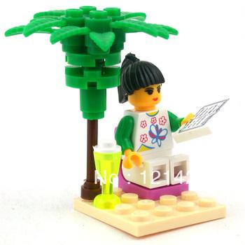 Free Shipping Reading girl 1208 building blocks 3D DIY building bricks toy