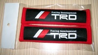 TRD Red Black  Seat Belt Shoulder Pads, Shoulder Protector/BYC-SP11