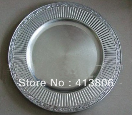 plastic charger plates decoration plates for wedding for party for decoration 25pcs a lot(China (Mainland))