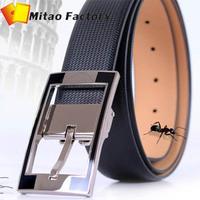 Aliexpress Best Selling 50% Off Nice Alloy Spin Buckle Genuine Leather Man Belts For Men Diamond Pattern Snap LeatherJeans Belt
