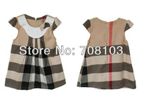 Free Shipping 2013 NEW STYLE Baby Dress 4pcs/lot Summer Girl's Beautiful Cherry Dress 80-120cm Children dress girl dress