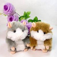 Free Shipping 5pcs 1 lot Toy Hamster Plush Toy Recordable Plush Toy