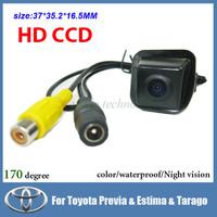 Free shipping CCD Car Rear view camera for Toyota Previa Estima Tarago color 170 degree night vision car parking camera