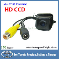 Free shipping CCD Car Rear view camera for Toyota Previa Estima Tarago color 170 degree night vision car parking camera