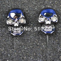 """L"" Length With Crystal Skull Headphone High Quality DJ Headsets Metal In-ear earphones Free Shipping"