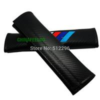 free shipping Carbon Fiber Seat Belt Cover Shoulder Pad fit for BMW M (#3126)