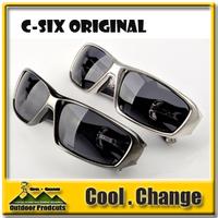 New Arrival Sports Eyewear Fashion Sunglasses Men's Cycling Sunglasses C SIX Gun Metal Color TR90 Sport Glasses Free Shipping