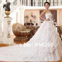 Free     shipping     Sweet princess elegant the bride wedding dress