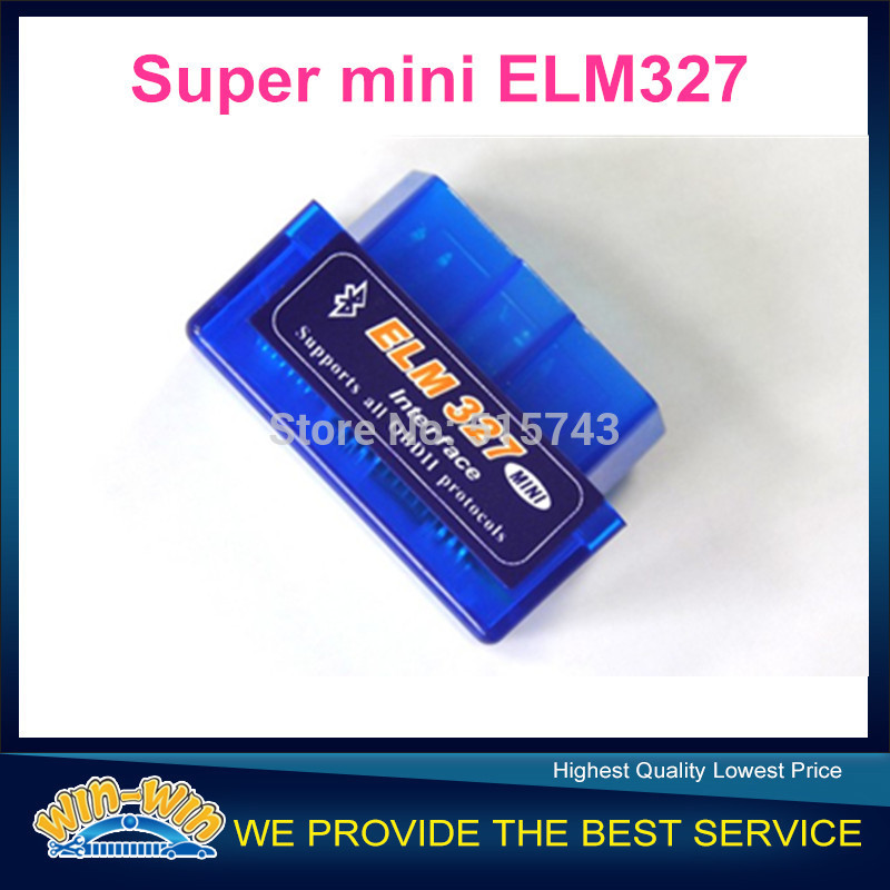 Latest Version V2.1 Super Mini ELM327 Bluetooth OBD2 Scanner ELM 327 Bluetooth For Multi-brands CAN-BUS Supports All OBD2 Model(China (Mainland))