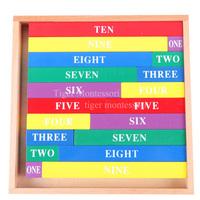 Montessori teaching aids mini multicolour rod c012 baby puzzle the educational toys