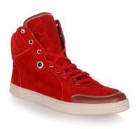 Men's boots genuine leather high casual shoes star style fashion popular red personalized