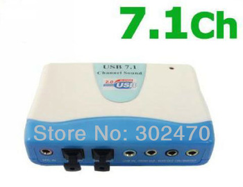 [FREE SHIPPING/EPACKET!] USB 2.0 to Mic/SPDIF 7.1 CH Optical Sound Card Adapter