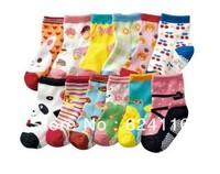 BB09 20pairs/lot Cartoon Promotion HIGH QUALITY Baby Socks Girl Children Cotton Socks non anti-slip