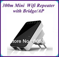 2pcs/let New mini wifi repeater Wireless 300m Router/Reapter with Ap function in retail packing
