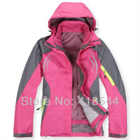 Free Shipping 2013 new nf jackets for Women,Camping Windproof  winter outerwear Skiing Sportwear hoodies jackets