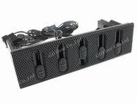 "Free Shipping (1 piece) 5.25"" Drive Bay Fan Speed Controller 5 Channels Metalmesh Front STW 6051"
