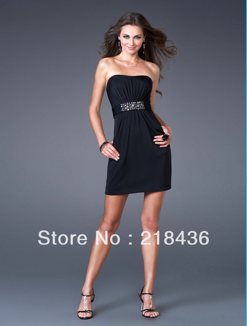 2013 Style Sheath / Column Strapless Beading Sleeveless Short / Mini Chiffon Cocktail Dresses / Homecoming Dresses (XZ02290)(China (Mainland))