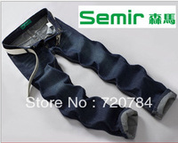 Semir male jeans wholesale and retail of high quality fashion brand man trousers, straight barrel pure cotton brand blue jeans