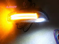 LED Dedicated rear-view mirror lights; turn signals, DRL, as ground lamp, 3-in-1 function, for 2012 TOYOTA  PORTE and PREMIO