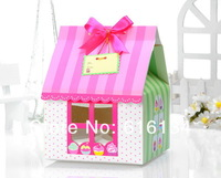 Free Shipping 100pcs/lot 15x15x20cm Hold 4 cupcakes PVC Window include insert, Cupcake Cases, Cake Boxes, Cake packaging bags
