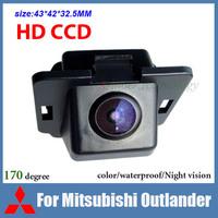 Free shipping HD CCD Car backup camera for Mitsubishi Outlander color waterproof 170 degree night vision car reversing camera