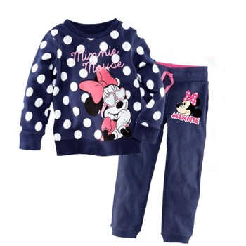 No1 Sale Minnie Mouse Cartoon 2pcs Pajamas Clothing Set Sleepwear for Girls Pajama Baby Clothing 100% Cotton New Pyjamas 2013
