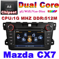 Car DVD for Mazda CX7 with1G CPU GPS FM RDS GPS 3G Host HD screen S100 Support DVR audio video player Free shipping
