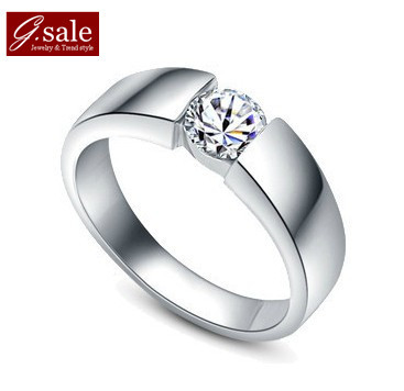 GS brand JZ-6 free shipping 925 stamp silver & zircon & platinum plated new for man male wedding men`s jewelry vintage rings(China (Mainland))
