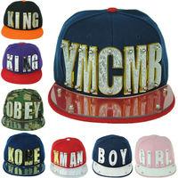 Hiphop crystal acrylic letter custom custom snapback hats fashion hip hop cap snapback hats wholesale Adjustable Baseball Cap