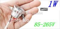 1W Mini LED Star light, led cabinet light, mini led downlight 85-265v CE ROHS ceiling lamp 100pcs/lot free shipping