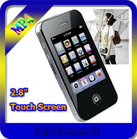 "New 2.8"" 16GB Touch Screen I9 4G Style Mp3 Mp4 MP5 Player Camera Game Video,Free Shipping"