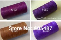 Free shipping wholesaler colored 1mm polyester waxed thread for shoes, DIY wax thread ,250m/pcs, 10 pcs/lot