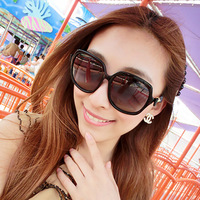 New arrival hot-selling 2013 ! fashion all-match genuine leather bow quality women's polarized sunglasses